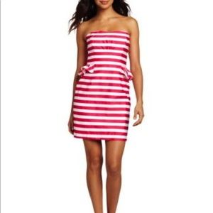 Pinkand White Stripes Maybell Azalea Swizzle Dress